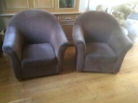 Pair of Habitat 'Oxford' chairs