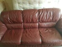 3 seater leather sofa (free delvr)