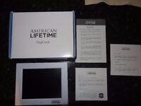 American Lifetime Clock - XL Impaired Vision Digital Clock with Battery Backup & 5 Alarm Options
