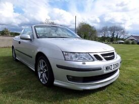 2005 SAAB 93 AREO CONVERTIBLE..210 BHP....MOTED TO OCTOBER..POSSIBLE PART EXCHANGE.