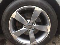 audi 17 inch rotor alloys