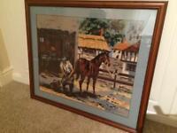 Large framed tapestry