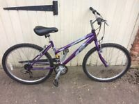 Raleigh vixen bike - purple
