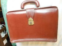 Traditional brown briefcase/ school document case