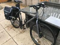 """Carrera Subway 2 with pannier rack and panniers 20"""" Frame ( Up to 6"""" 1 )"""