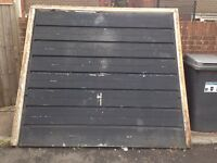 Up and over garage door on frame free to collector