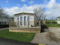 BK Bluebird Caprice 2014 2 bed 35 x 12 static caravan with wooden deck. Sited near Lockerbie.