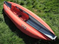GUMOTEX INFLATABLE KAYAK USED ONCE AS NEW WITH BOX RARE BARGAIN