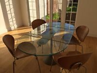 German designer Ronald Schmitt dining table and coffee table