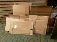 Cardboard Boxes Assorted Sizes