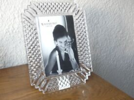 """Waterford Lead Crystal """"Makefield"""" 4"""" by 6"""" picture frame"""