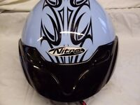 Motorcycle crash helmet size large worn once to get pillion home. Unmarked condition
