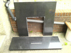 Marble Black Fireplace