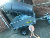 AS NEW Franc tipping trailer + abs hardtop/clamp