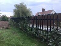 Garden railings - 9m x 1.2m