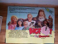 Big foot 1980s original movie poster 40in x 30in