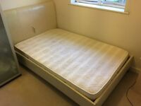 Small faux leather double bed with memory foam mattress - only £50!