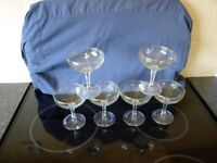 6 baby cham glasses in good condition