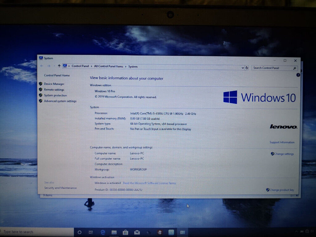 Lenovo T440s Business Laptop  Intel i5-4300 1 9GHz, 8GB Ram, 240GB SSD  Up  to 8 hours battery life   in Doncaster, South Yorkshire   Gumtree