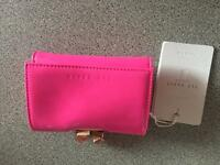 Brand new bright pink ted baker purse with tags