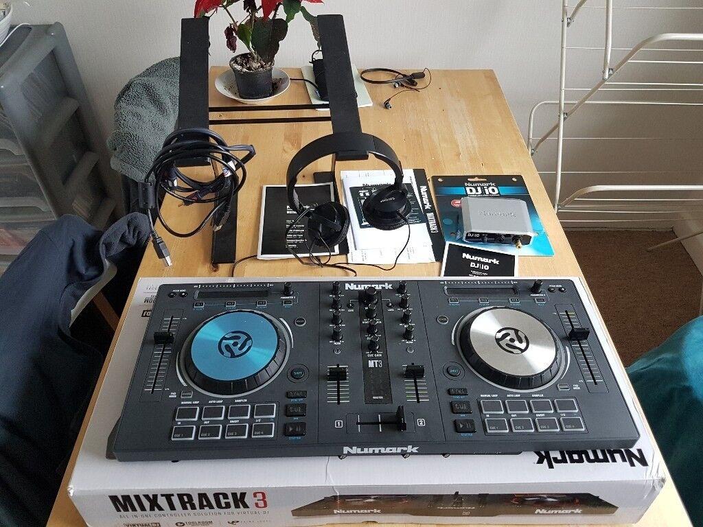 Numark Mixtrack 3 III with DJ IO, stand, headphones (not pro)