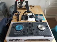 Numark Mixtrack 3 III with DJ IO, stand, headphones (not pro)