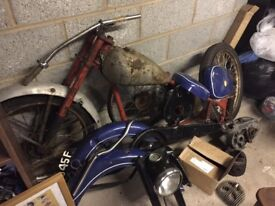BSA classic motorbike Parts lot