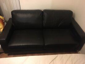 Two Black Sofas - good condition