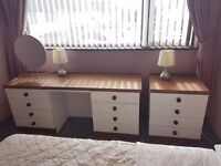 Bedroom Dressing Table and Drawers *£40 for both*