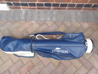 Howson golf bag and 11 clubs - Wilson / Stroke Master - Some old Vintage Clubs