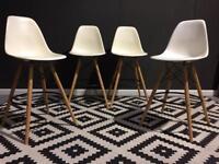 Set of 4 large Eiffel bar stools. Retro.