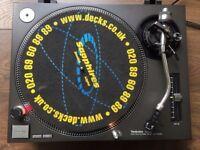 1 X Technics SL-1210 Mk2 Turntable With Original Lid & Ortofon DJ Needle