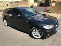2009 BMW 1 SERIES 2.0 118d M-SPORT 3dr Hatchback 6Speed Manual Cheap Road Tax £30 a Year 1/2 Leather
