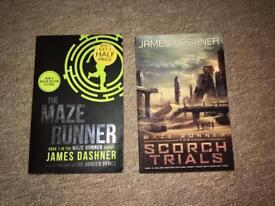 The Maze runner books x2