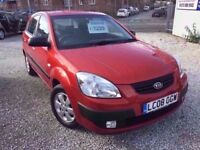 08 KIA RIO 1.4 PETROL IN RED *PX WELCOME* MOT TILL MAY 2018 £1295