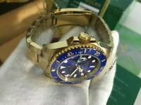 Rolex Submariner Blue Dial Golden case