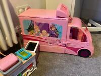 Barbie Caravan, Car, Horse, Puppy…..