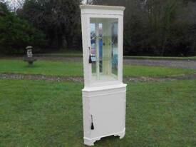 Tall Cream Corner Unit With Light+ Mirrors