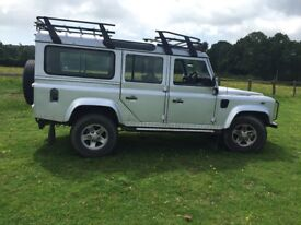Silver tdi 110 Land Rover 02 plate low milage excellent condition