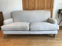 Sofa, two and a half seat, wool with oak legs