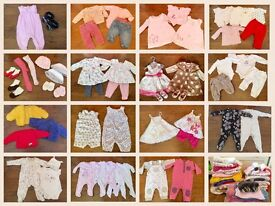 Baby girl clothes bundle 3-6 months. Over 50 items from Next, Mamas and Papas etc