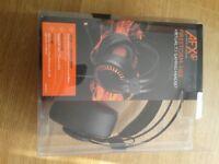 AFX Firestorm H03 Desktop Windows Apple Mac PS4 Virtual 7.1 Gaming Headset Black