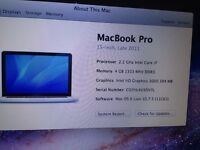Apple Mac book Pro for sale great condition bought late 2013
