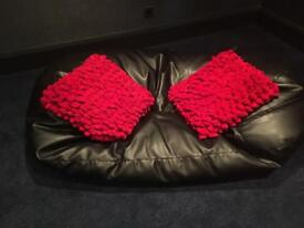 two seater bean bag