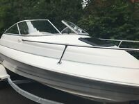 Bayliner 1952 Capri cuddy. On trailer private sale just serviced by main dealer. Beautiful boat.