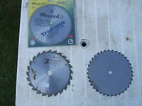 "3- 10"" Bench Saw Blades"