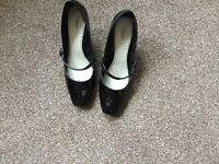 Black patente shoes