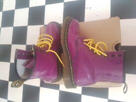 Dr Martans AirWair Purple Ankle Boots Uk 4/ EU 37/ US 6 excellent con