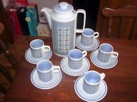 HORNSEA POTTERY COFFEE SET - TAPESTRY PATTERN