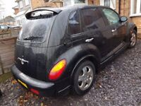 CHRYSLER PT CRUISER 2,0 AUTOMATIC 2003 BLACK LONG MOT BLACK LEATHER CHROME ALLOYS DRIVE GOOD MAY P/X
